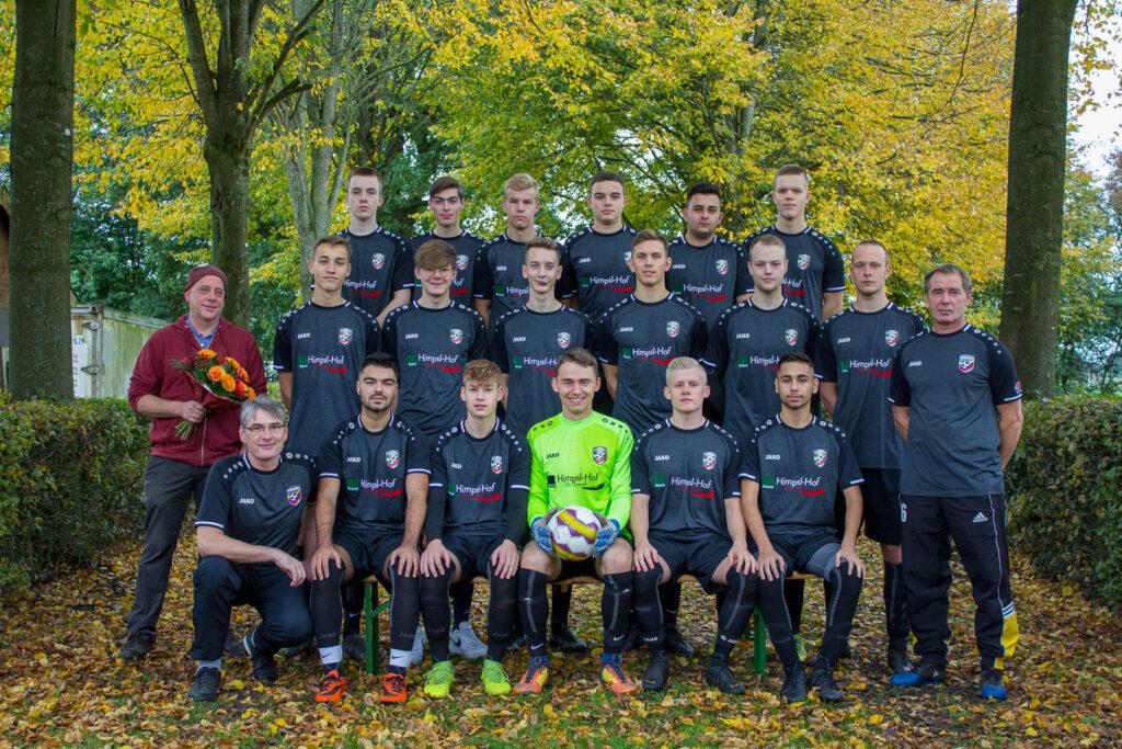 Mannschaftsfoto der SG SchEdammBäke A-Junioren 2019/20