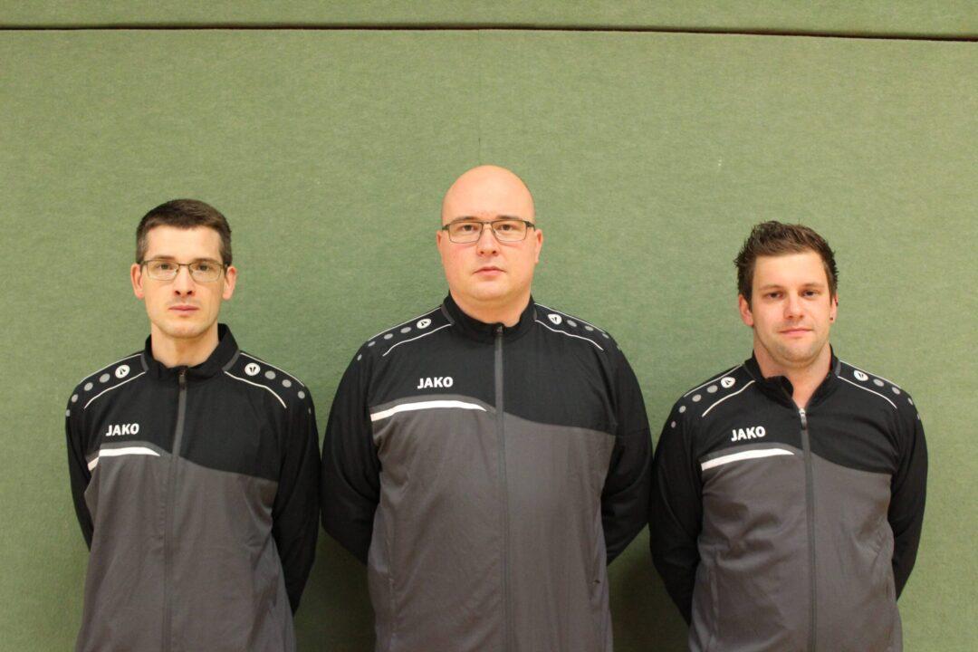 Trainerteam der SG II 2020/21: Sascha Brötje, Nils Henkensiefken und Jan Siebelts (von links)